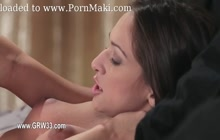 Gorgeous lesbians Sara Luvv and Chloe Foster in love