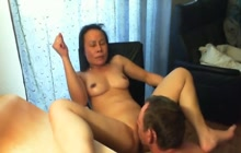 Thai mom gets her pussy licked