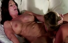 Horny mature seduces sweet blonde girl